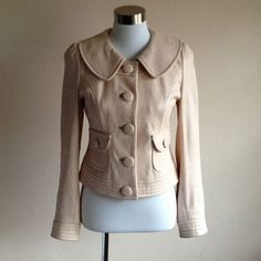 Alannah Hill Pink Leather Jacket Removable Collar Peter PAN Neck AU10 $650   eBay