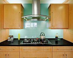 Large Glass Tile Backsplash   Contemporary   Kitchen   Los Angeles   The  Kitchen Collection