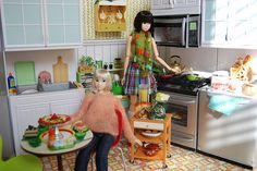 Momoko Dolls in the Kitchen