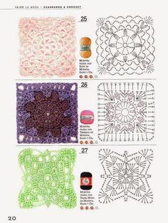 Τα τετράγωνα μοτίβα είναι ένας εύκολος τρόπος να φτιάξουμε κουβέρτες και γενικά μεγάλα έργα με βελονάκι.. Παρακάτω θα βρείτε υπέροχες ιδέες...