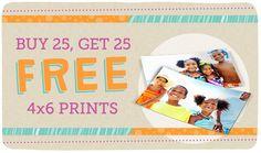 WALGREENS $$ Reminder: Buy 25 4×6 Prints, Get 25 FREE – Ends TODAY (9/14)!
