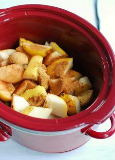 Spiced Crock Pot Pear Butter |