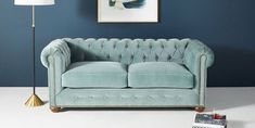 Anthropologie just released its stylish fall home collection, including furniture and home decor accessories. Tufted Sofa, Chesterfield Sofa, Living Room Grey, Living Room Sofa, Living Rooms, Custom Furniture, Home Furniture, Anthropologie Furniture, Pull Out Sofa