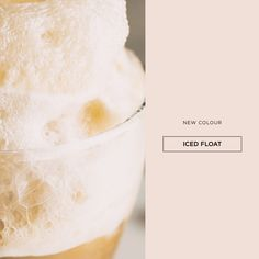 A contemporary take on a childhood memory - the frothy top of an ice cream float influenced this fun beige evoking memories of carefree cheerfulness #paintcolours