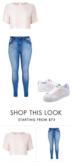 """""""Untitled #36"""" by emoji-craze ❤ liked on Polyvore featuring True Decadence, City Chic and adidas Originals"""