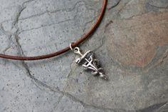 Vet Tech necklace - sterling silver veterinary technician symbol   NightOwlJewelry - Jewelry on ArtFire