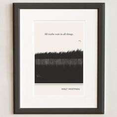 Illustration with Walt Whitman Quote by ObviousState,