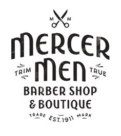 """""""Mercer Men"""": lettering handcrafted by Simon Walker for a barber shop logo somewhere in Canada. Don't forget to check Simon's portfolio cause it's hot. Pssst! He's also on Dribbble."""