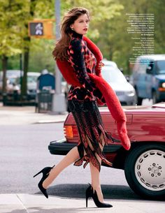 designerleather:  Laetitia Casta for Tatler Russia - To pretty not to post - love the red fur boa - and Cavalli and J. Mendel are designers I love to shoot