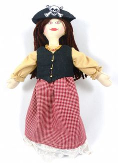 Pirate Doll  Handmade Pirate Girl Doll by JoellesDolls on Etsy