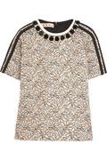 Marni|Crystal-embellished jacquard top|NET-A-PORTER.COM