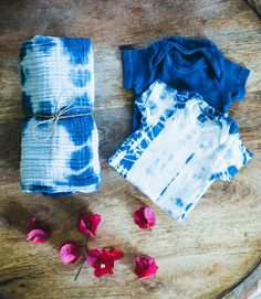 Shibori Baby Gift Set by IndigoMoonLove on Etsy