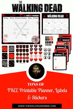 FREE Walking Dead printable planner, stickers, labels & more!