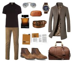 """""""Away for the weekend!"""" by chalsouv ❤ liked on Polyvore featuring Ted Baker, Burberry, BLACK BROWN 1826, FOSSIL, Michael Kors, Ray-Ban, Uniqlo, Dolce&Gabbana, Will Leather Goods and mens"""