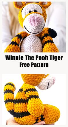 Crotchet Patterns, Crochet Amigurumi Free Patterns, Crochet Dolls, Winnie The Pooh Cartoon, Cute Winnie The Pooh, Crochet Gratis, Free Crochet, Crochet Backpack Pattern, Crochet Projects