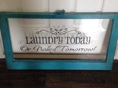 Vintage small single pane window for laundry room. www.countryqueenscraftythings.com custom orders accepted daily