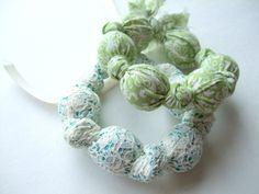 Fabric Covered Bead Bracelets