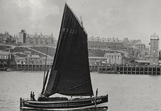 Herring Boat, North Shields, c.1898 North Shields, Lighthouse Pictures, Full Sail, Somewhere In Time, Naval, Northern England, North East England, Boat Painting, Wooden Ship