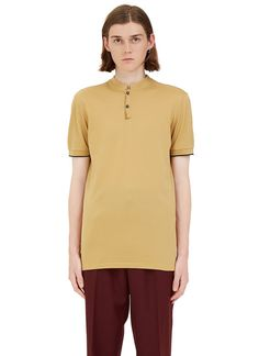 Men's Tops - Clothing   Find more at LN-CC - Short Stand Collared Polo Shirt