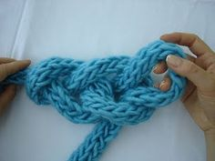 CHALLENGE ACCEPTED! lol finger knit... Imagine how awesome a blanket like this could be, u would have to use ur arm as a crochet hook :P