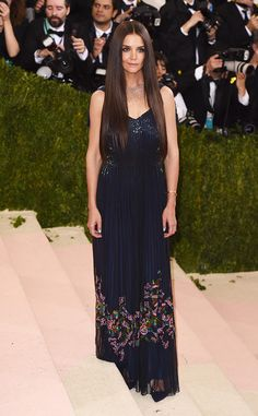 Katie Holmes from Met Gala 2016: Red Carpet Arrivals | E! Online in Zac Posen
