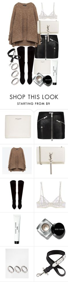 """""""Untitled #20281"""" by florencia95 ❤ liked on Polyvore featuring Yves Saint Laurent, Anine Bing, Zara, La Perla, Bobbi Brown Cosmetics, ASOS and Givenchy"""