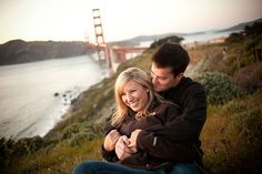 A couple's love story accompanies this sunny engagement session on the streets of San Francisco, on a picnic, and in front of the couple's first home.