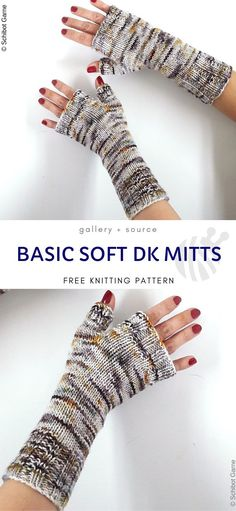 Knitted Mittens Pattern, Knit Mittens, Sweater Knitting Patterns, Free Knitting, Circular Knitting Patterns, Cable Knitting, Knitting Designs, Fingerless Gloves Knitted, Knitted Hats