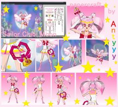 Sailor Chibi Moon papercraft by Antyyy.deviantart.com on @DeviantArt
