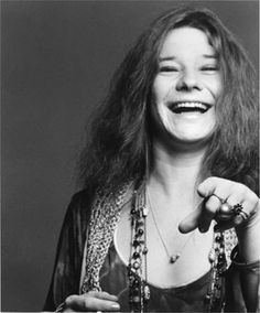 """Janis Joplin. American singer in the 60'es. She was a rock legend and hippie. I know her from the hit """"Mercedes Benz"""". She played on Woodstock Festival in 1968. In 1970 she died from an overdose of heroin, only 27 years old."""
