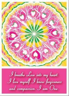 Heart Chakra Affirmation.  Meditation.
