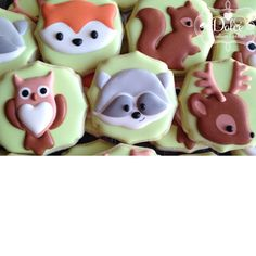"""Woodland Animals for a Baby Shower #woodlandanimals #fox #owl #raccoon #deer #squirrel #babyshower #birthdaycookies #babycookies #toronto #torontobakery #torontocookies #dolcecustomcookies"" Photo taken by @dolcecustomcookies on Instagram, pinned via the InstaPin iOS App! http://www.instapinapp.com (03/29/2015)"