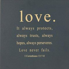 Two universal truths about love; love always invoves action & sacrifice...make that three truths - it's beautiful.
