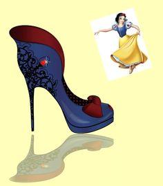 Princesas da Disney inspiram desenho de sapatos