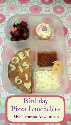 My Epicurean Adventures: Happy Birthday Little Sis! Pizza Lunchables @Nature's Own @Kelly Lester / EasyLunchboxes