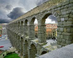 Roman aquaduct, Segovia, Spain. Been here, love it! Segovia, famous for suckling piglets.
