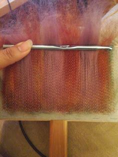 Who needs a blending board when you have hand carders, a paint brush, and crochet hooks to roll up some gorgeous rolags! Spinning Wool, Hand Spinning, Spinning Wheels, Wet Felting, Needle Felting, Wool Yarn, Wool Felt, Drop Spindle, Felting Tutorials