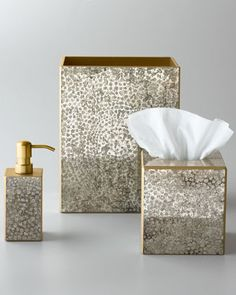 "Waylande Gregory ""Mosaic Metallic"" Vanity Accessories - Horchow - possible for guest bathroom"