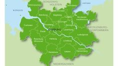 Karte der Metropolregion Hamburg / Metropolregion Hamburg