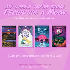 A list of twenty Middle Grade books that feature a moon for January's reading challenge theme at #MGCarousel | #mglit #IReadMG #kidlit #booklist #bookblog #middlegradebooks