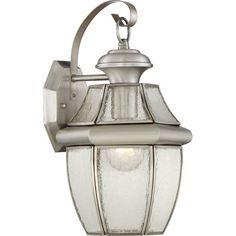 Newbury Pewter 8-Inch One-Light Outdoor Wall Lantern