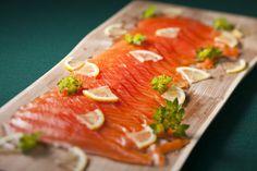 Homemade smoked salmon in Tasmania