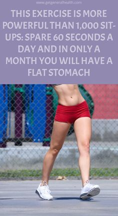 This Exercise Is More Powerful Than Sit-Ups: Spare 60 Seconds a Day and In Only A Month You Will Have a Flat Stomach Health Benefits, Health Tips, Health And Wellness, Health Care, Natural Teething Remedies, Natural Home Remedies, Herbal Cure, Herbal Remedies, Losing Weight