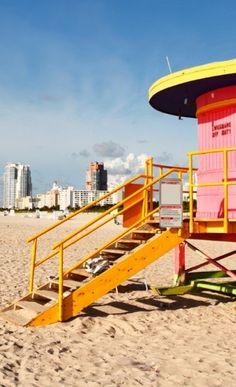 Poste de surveillance de plage à Miami __ http://www.wee-go.com/sejour-linguistique/miami