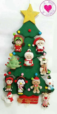 Christmas Tree Change Up Box and Stitching Dies can be use… Felt Christmas Decorations, Felt Christmas Ornaments, Christmas Stockings, Nativity Ornaments, Christmas Clay, Kids Christmas, Christmas Crafts, Christmas Nativity, Crochet Christmas