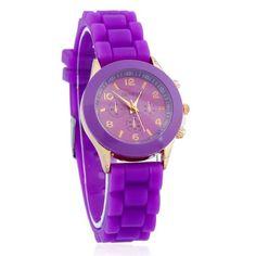Womens Geneva Casual Silicone Strap Fashion Watch