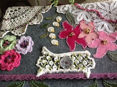 iPad protector made with vintage lace and crystals. $55.00 on etsy at DreamCatchinQuilts