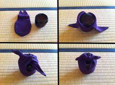 Otsu-bukuro, crepe bag for chanoyu natsume (matcha tea caddy)