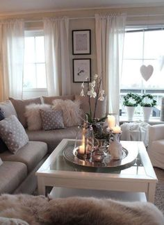 We have awesome Cozy and Rustic Chic Living Room Inspiration for your Beautiful Home. Check it out our collections and ideas. Consider the size of the room you have to work on. Chic Living Room, Cozy Living Rooms, Apartment Living, Home And Living, Living Area, Modern Living, Small Living, Decorating Ideas For The Home Living Room, Taupe Living Room