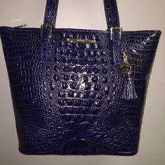 Brahmin Large Asher Ink J51151 Ink-dark Blue Leather Tote 24% off retail b6c7854de47c9